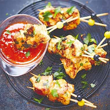 Brochettes-de-poulet au-paprika-et-au-curry