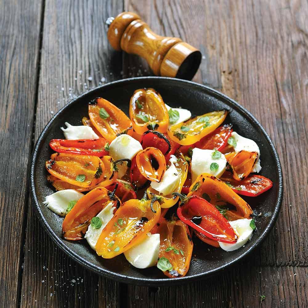 Salade de poivrons et mozzarella